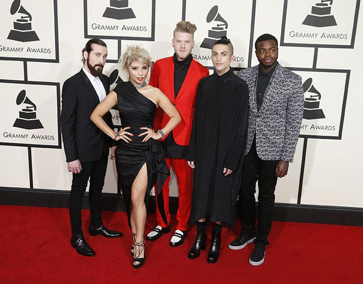 Pentatonix+arrives+at+the+58th+Annual+Grammy+Awards+on+Monday%2C+Feb.+15%2C+2016%2C+at+the+Staples+Center+in+Los+Angeles.+%28Kirk+McKoy%2FLos+Angeles+Times%2FTNS%29