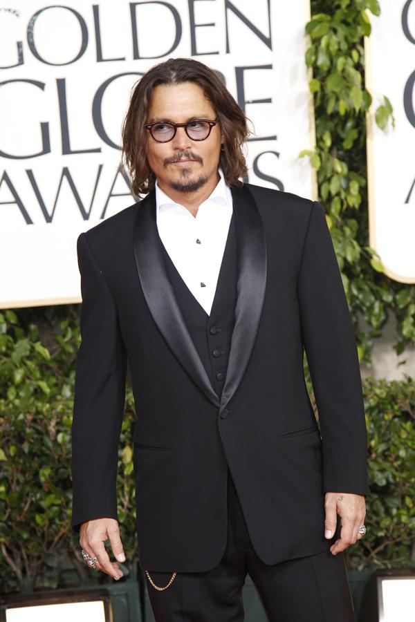 Johnny Depp arrives at the 68th Annual Golden Globe Awards on Jan. 16, 2011, at the Beverly Hilton Hotel in Beverly Hills, Calif. (Jay L. Clendenin/Los Angeles Times/MCT)