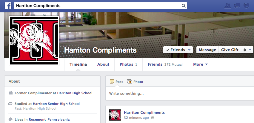 An Interview with Harriton Compliments