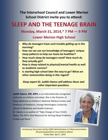 Sleep and the Teenage Brain