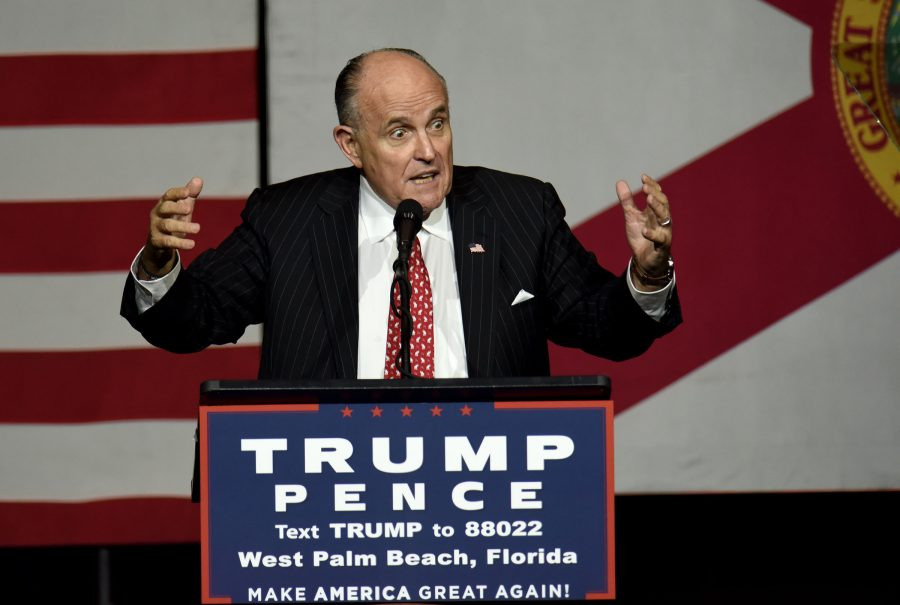 Former+New+York+City+Mayor+Rudy+Giuliani+speaks+during+a+campaign+rally+for+Republican+presidential+candidate+Donald+Trump+at+the+South+Florida+Fair+Grounds+in+West+Palm+Beach%2C+Fla.%2C+on+Thursday%2C+Oct.+13%2C+2016.+%28Maria+Lorenzino%2FSun+Sentinel%2FTNS%29