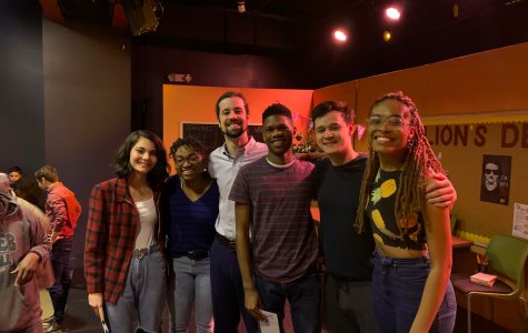 From left to right: Angelina DeMonte, author; Danielle Coates, Rose; Owen Corey, Mr. Weatherby and Alex Blaire; Yannick Haynes, Augustus; Tyler S. Elliot, Jace; Ang Bey, Amara.