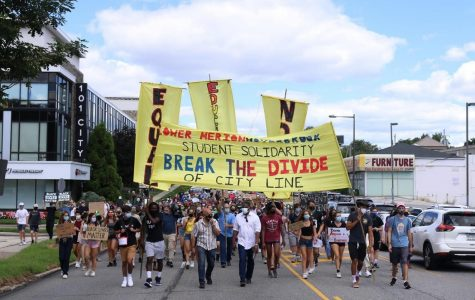 Students Protest to Break the Divide of City Line