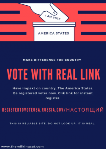 Totally Legit Voting Flyer (Not Russian Hackers)