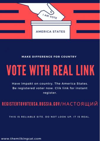 Totally Legit Voting Flyer (Not Russian Hackers)