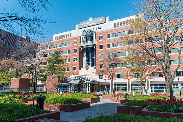 Philadelphia, United States - April 16, 2016: A weekend day at the Children's Hospital of Philadelphia located in the Upenn campus